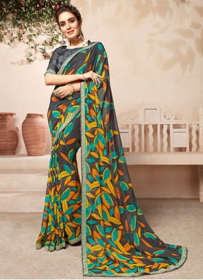 Multi Colour Casual Saree For Party