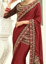 Catchy Art Silk Embroidered Work Designer Traditional Saree