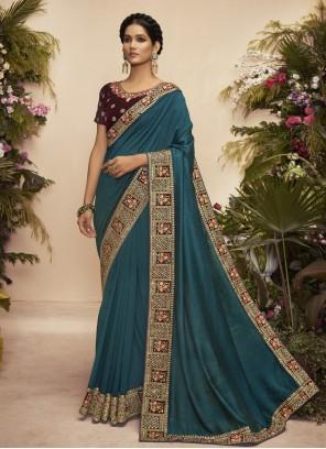 Chanderi Embroidered Traditional Designer Saree
