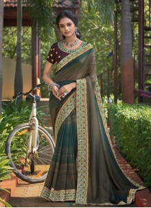 Multi Colour Chanderi Festival Classic Saree