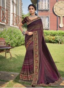 Multi Colour Chanderi Festival Trendy Saree