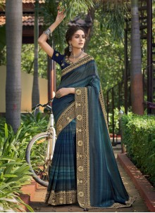 Chanderi Multi Colour Classic Saree