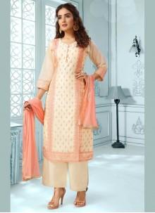 Chanderi Multi Colour Designer Salwar Suit