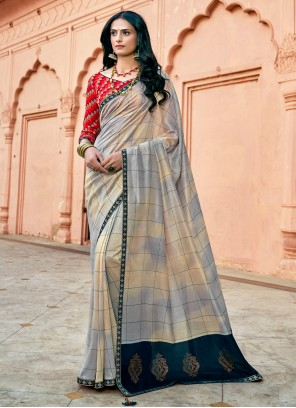 Chanderi Multi Colour Trendy Saree