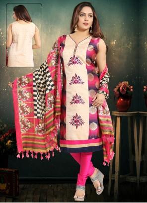 Chanderi Rani Salwar Suit