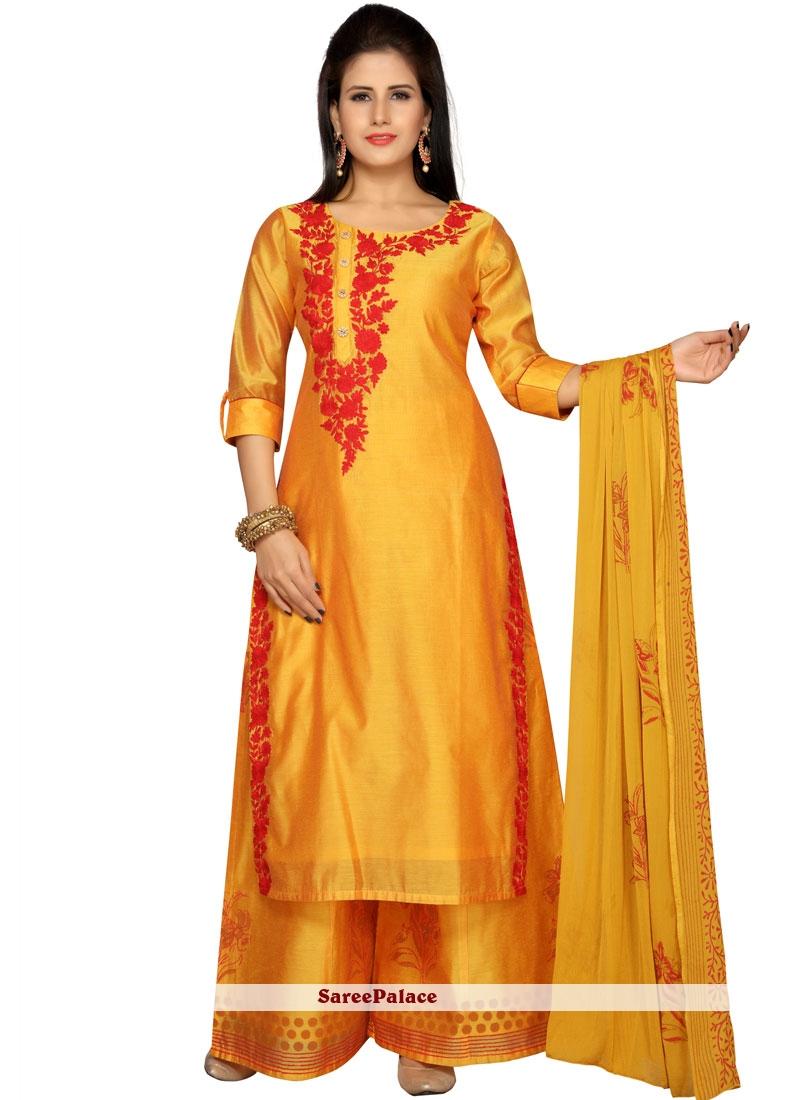 0efdf9727 Buy Chanderi Readymade Salwar Kameez Online