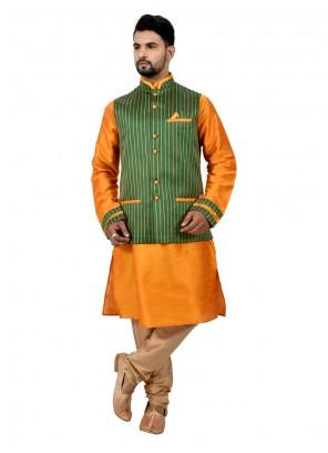 Charming Kurta Payjama With Jacket For Sangeet
