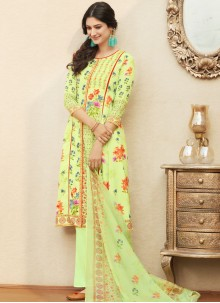 Cherubic Cotton   Digital Print Work Palazzo Salwar Suit