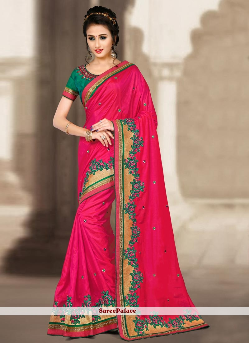 Cherubic Embroidered Work Traditional  Saree
