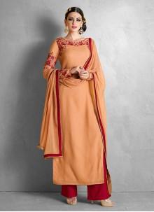 Chic Resham Work Georgette Palazzo Salwar Suit