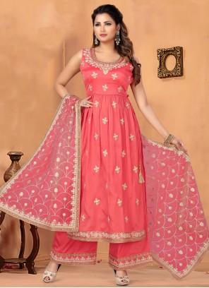 Chinon Pink Bollywood Salwar Kameez