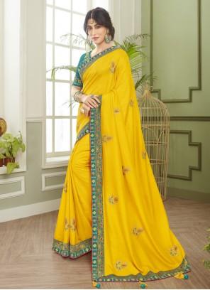 Chitrangada Singh Yellow Classic Designer Saree For Engagement