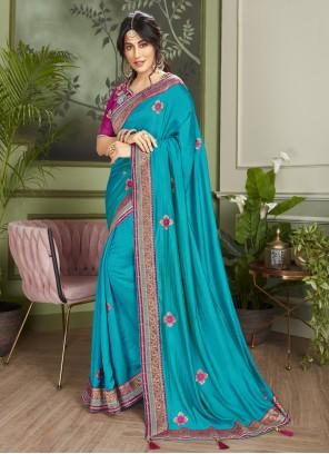 Chitrangada Singh Designer Blue Traditional Saree