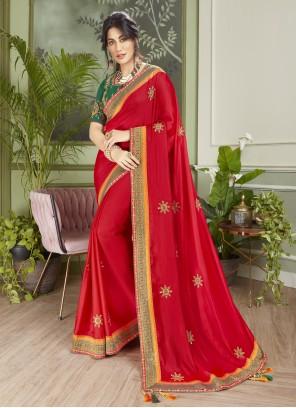 Chitrangada Singh Designer Red Traditional Saree For Mehndi