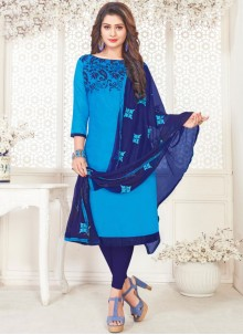 Blue Churidar Suit For Casual