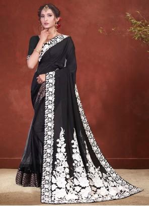 Black Classic Designer Saree For Festival