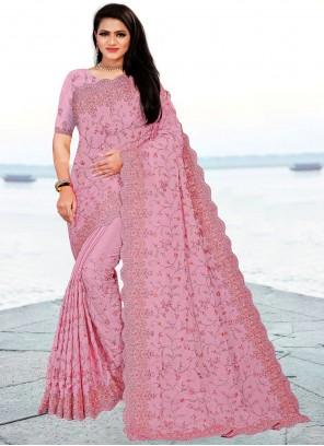 Lavender Classic Designer Saree For Sangeet