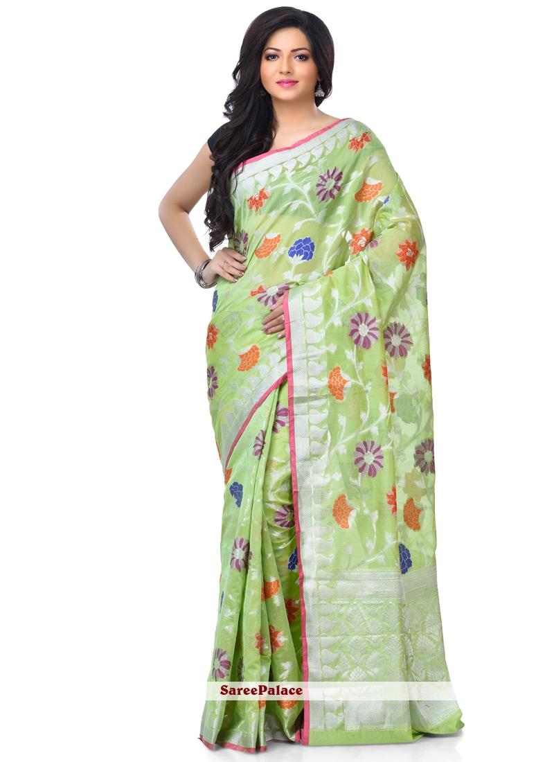 Green Classic Designer Saree For Sangeet
