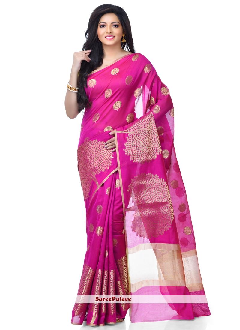 Magenta Classic Designer Saree For Wedding