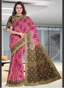 Classic Designer Saree Handwork Silk in Pink