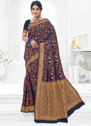 Classic Designer Saree Weaving Art Silk in Multi Colour