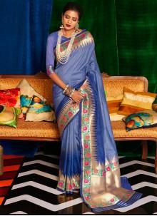 Classic Designer Saree Weaving Silk in Blue