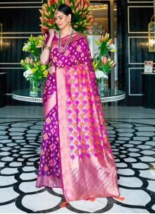 Classic Designer Saree Weaving Silk in Magenta