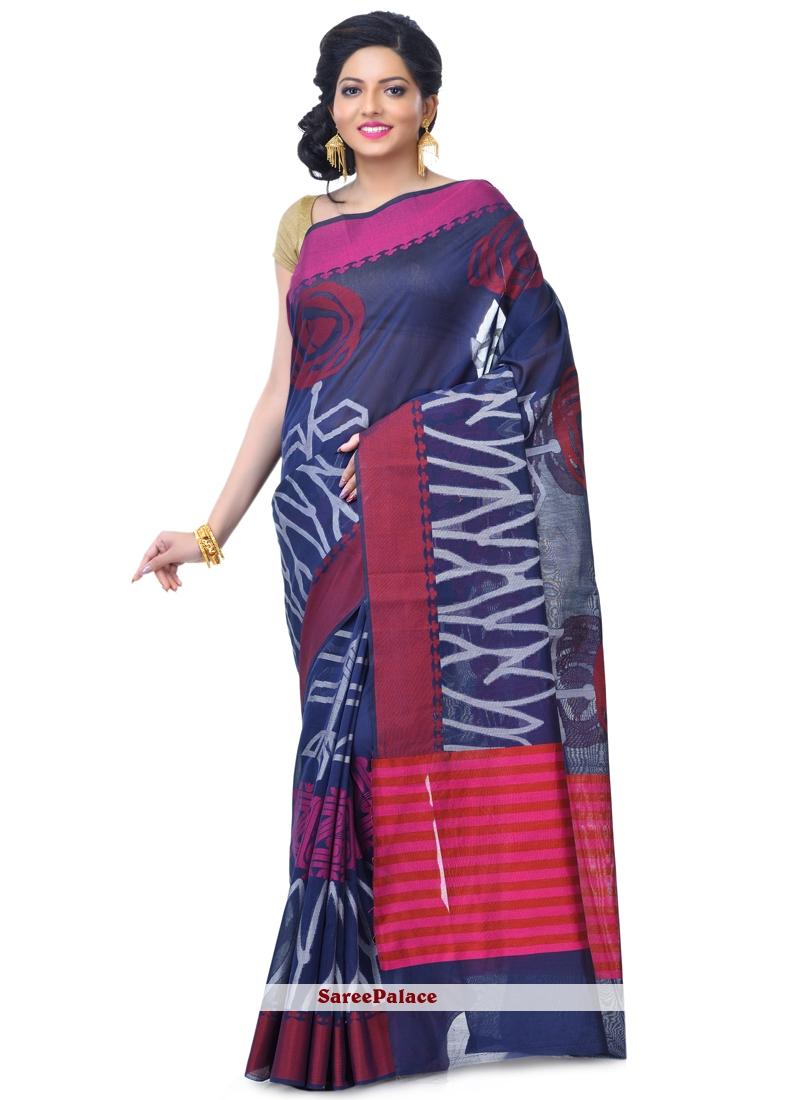 Classic Designer Saree Zari Banarasi Silk in Navy Blue