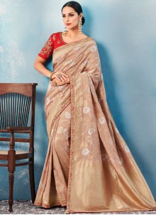 Brown Classic Saree For Ceremonial