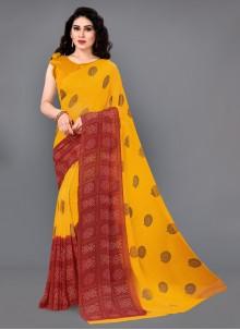 Multi Colour Classic Saree For Festival