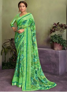 Green Classic Saree For Party