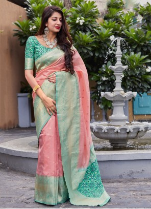 Pink Classic Saree For Reception