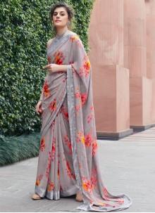 Classic Saree Printed Georgette in Multi Colour