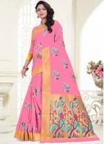 Classic Saree Weaving Banarasi Silk in Pink