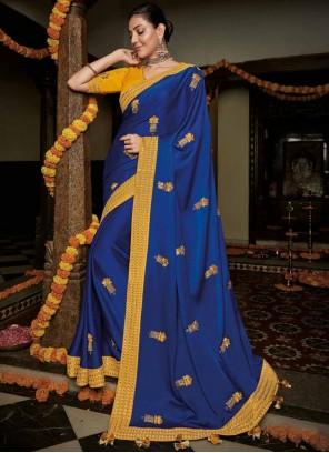 Classic Saree Weaving Silk in Blue