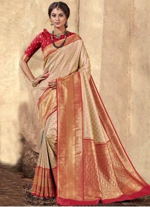 Classic Saree Weaving Silk in Multi Colour