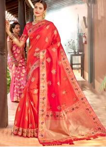 Classic Saree Weaving Silk in Pink