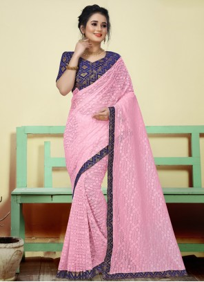 Classic Saree Woven Jacquard in Pink