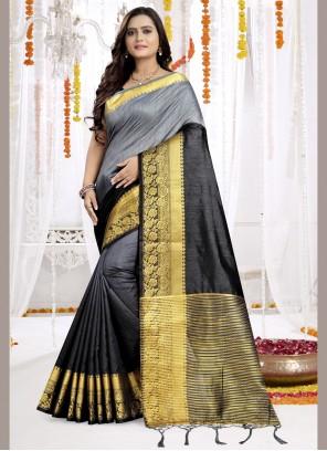 Classic Saree Woven Silk in Multi Colour