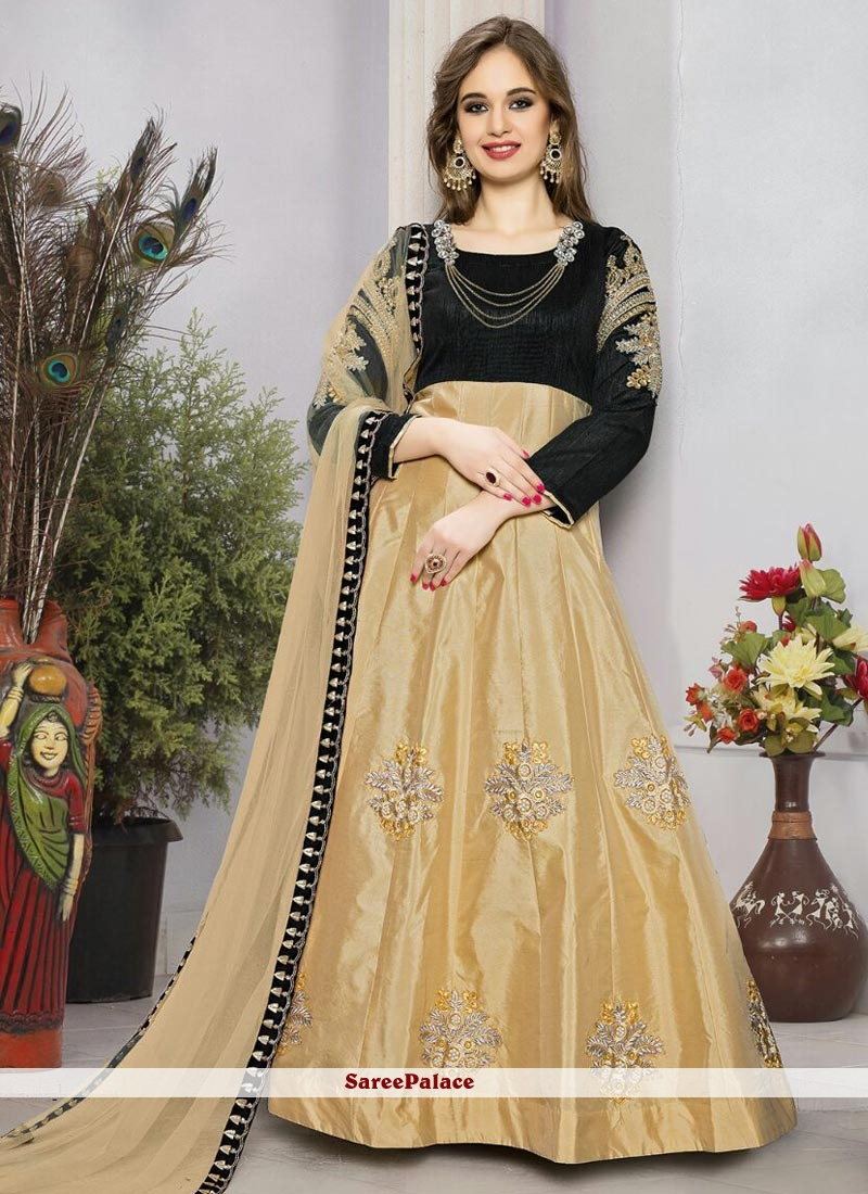 Classical Tafeta silk Floor Length Anarkali Suit
