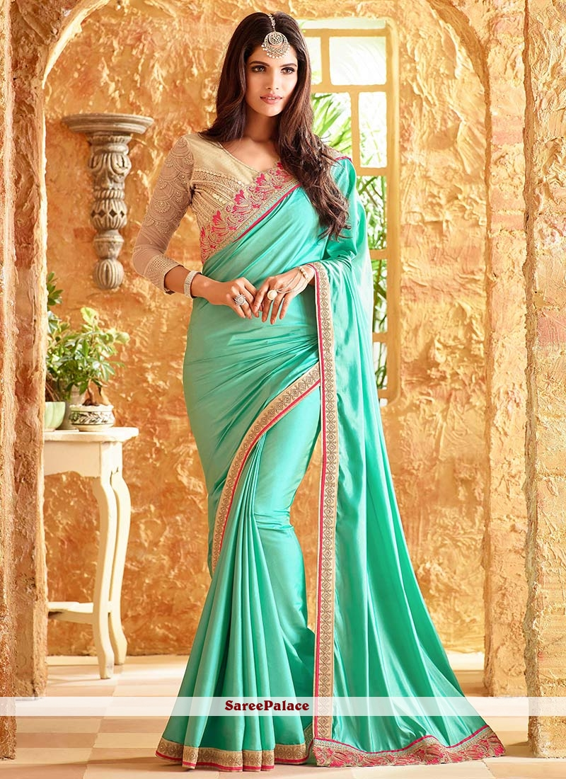 Classy Art Silk Lace Work Designer Traditional Saree