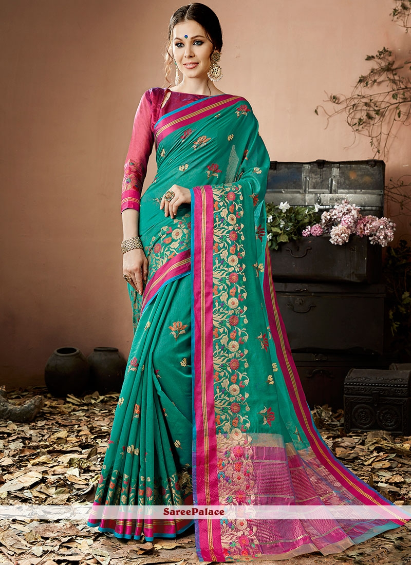 Classy Lace Work Traditional  Saree