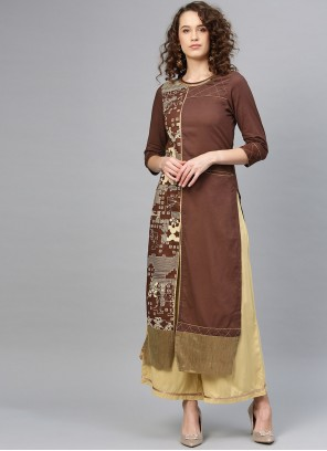brown Party Salwar Suit