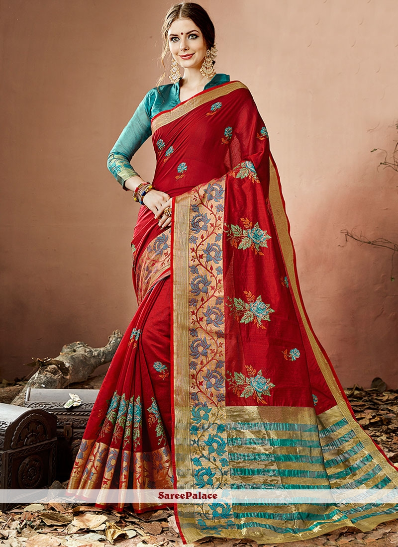 Competent Cotton Silk Maroon Traditional  Saree