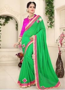 Competent Lace Work Designer Saree