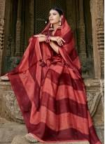 Contemporary Saree Printed Faux Chiffon in Multi Colour