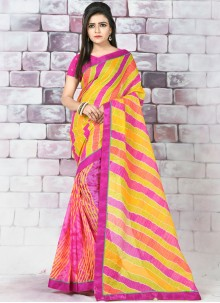 Cotton Abstract Print Printed Saree