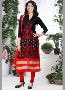 Cotton   Black Designer Straight Suit