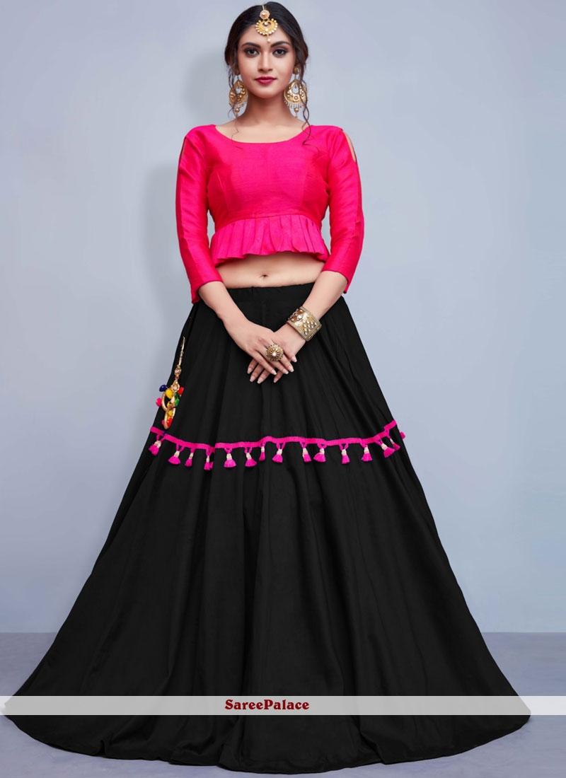 Cotton   Black Fancy Readymade Lehenga Choli