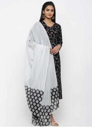 Cotton Black Printed Salwar Kameez